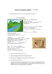 English Worksheet: Languages - a poem by Carl Sandburg