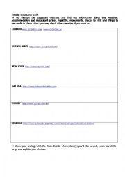 Internet Activities 1 - Where Shall We Go?