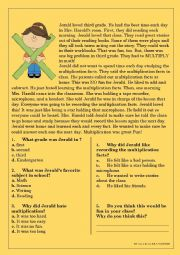 Reading Comprehension for beginner and Elementary Students 4