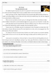 English Worksheet: test about entertainment unit