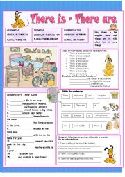 English Worksheet: There is-There are