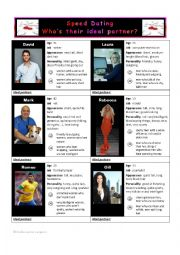 speed dating - who´s their ideal partner
