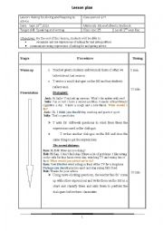 English Worksheet: Asking for,giving and responding to advice lesson plan