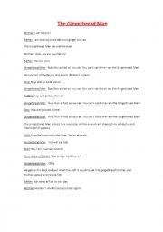 English Worksheet: The Gingerbread Man