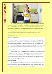 English Worksheet: House chores