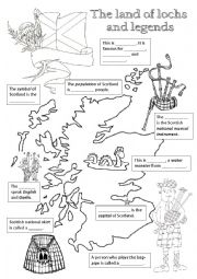 English Worksheet: Scotland - fill in the missing info