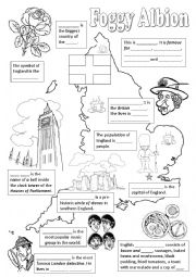 English Worksheet: England - fill in the gaps