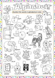 English Worksheet: ** Alphabet **