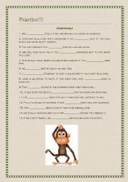 English Worksheet: Verb patterns, reported speech, conditionals