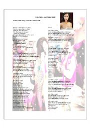 Song Worksheet - Katy Perry - Last Friday Night