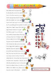 English Worksheet: Alphabet Tongue Twisters