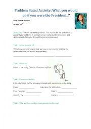 English Worksheet: Problem Based Worksheet: Social Issues