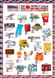 English Worksheet: British/American English Picture Dictionary#1