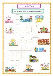 Months Crossword