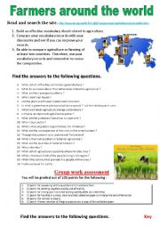 Farmers around the world (Webquest)