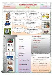 English Worksheet: introducing oneself and others