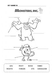 Monsters Inc worksheet
