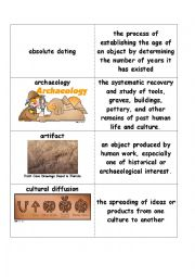 English Worksheet: Prehistoric Flashcards (prehistory of civilized mankind)