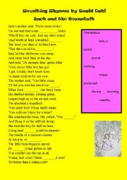 Revolting Rhymes by Roald Dahl, Jack and the Beanstalk