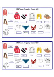 English Worksheet: Asking and comparing prices (clothing)