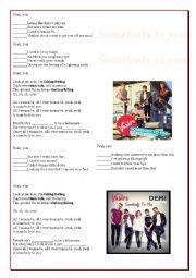 English Worksheet: Demi  Lovato - Somebody to you
