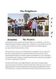 English Worksheet: The Neighbours season1 episode 1