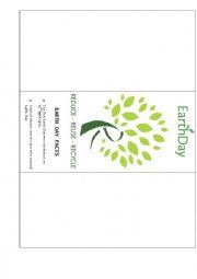 English Worksheet: Earth Day Brochure