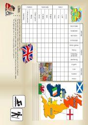 English Worksheet: logic game 17 - meet 4 british teenagers