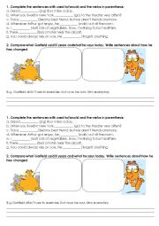 English Worksheet: Used to/ Would for past habits