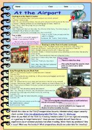English worksheet: At the Airport