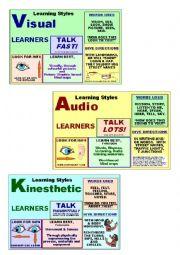 English Worksheet: Learning Styles - exploration