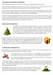 English Worksheet: Christmas - Origins and Traditions