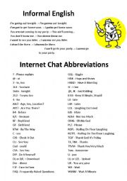 Internet Mobile Chat Abbreviations