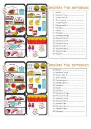 English Worksheet: some any much many a lot of
