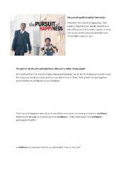 English Worksheet: The Pursuit of Happyness - Film Worksheet