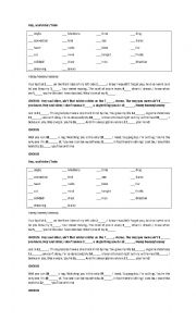 English Worksheet: hey soul sister song