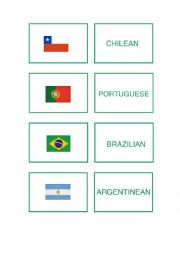 Countries and Nationalities (Memory Game)