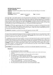English Worksheet: information gap activity