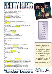 English Worksheet: Beyonce - Pretty Hurts