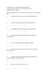 English Worksheet: American english-SAMPLE QUIZ 3
