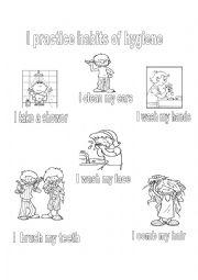 English Worksheet: Habits of hygiene