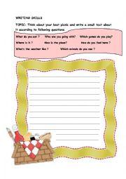 writing about picnic