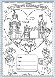 Cover English exercise book