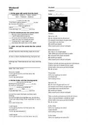 English Worksheet: Oasis - Wonderwall
