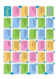 English Worksheet: Movie Questions Fun Board Game Editable