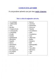 Printables Conjunctive Adverbs Worksheet conjunctive adverbs worksheet abitlikethis a list of to give your