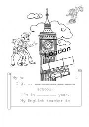English Worksheet: Front cover
