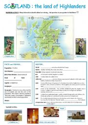 English Worksheet: Scotland : the land of Highlanders
