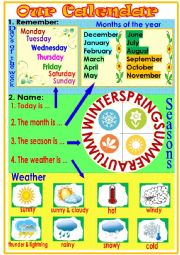 English Worksheet: Our Calendar