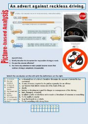 Picture-based analysis (An advert against reckless driving) 2/…